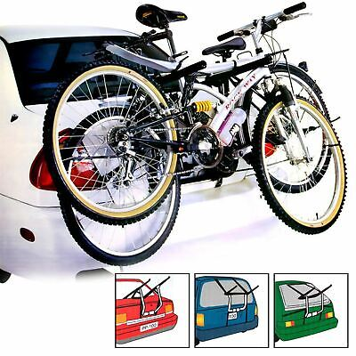 2 Bicycle Bike Car Cycle Carrier Rack Universal Fitting Saloon Hatchback Estate • 34.95£