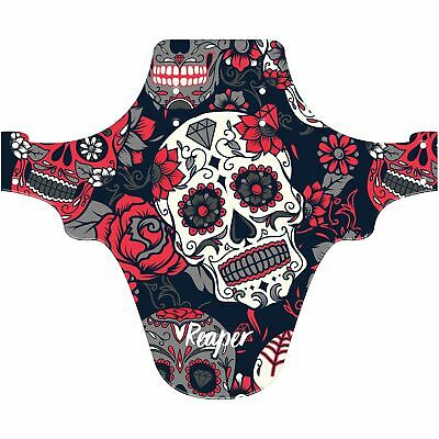 MTB Front Mudguard Reaper Mountain Bike Fender Candy Skull - Fits 26  27.5  29  • 9.95£