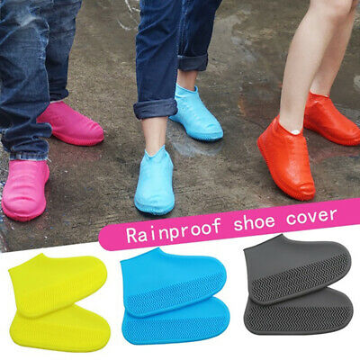 Silicone Overshoes Rain Waterproof Shoe Covers Boot Cover Protector Recyclable • 3.99£