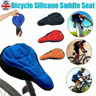 3D Silicone Gel Bike Bicycle Cycling Saddle Seat Cover Comfort Soft Cushion Pad • 5.19£