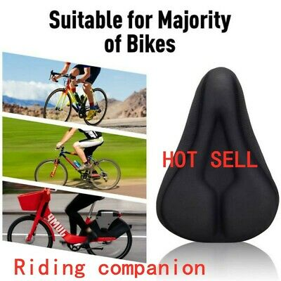 Mountain Bike Comfort Soft Gel Pad Comfy Cushion Saddle Seat Cover Bicycle' New • 6.94£