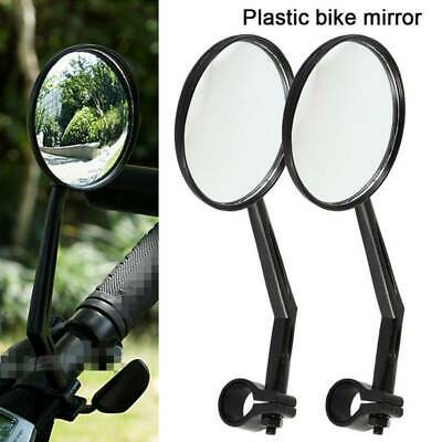 2X Wide Rear View Rearview Convex Mirror Cycling Bike Bicycle Handlebar Safe Top • 6.93£