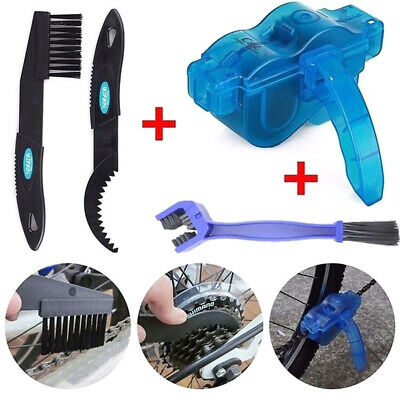 Bicycle Chain Wheel Cleaner Tool Kit Bike Maintenance Cleaning Brushes Scrubber • 5.49£