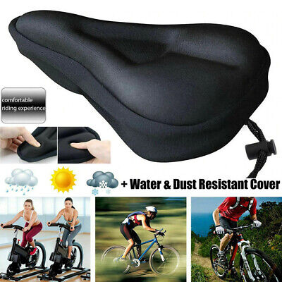 Soft Comfort Gel Pads Mountain Bike Comfy Cushion Saddle Seat Cover Bicycle   • 5.94£