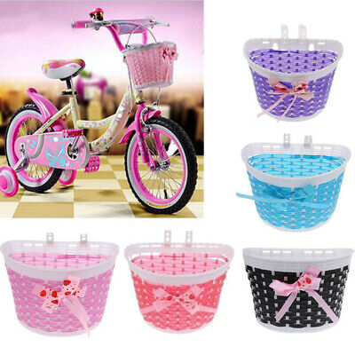 Bike Basket Front Bicycle Cycle Plastic Storage Cute Basket For Kids Children  • 2.78£