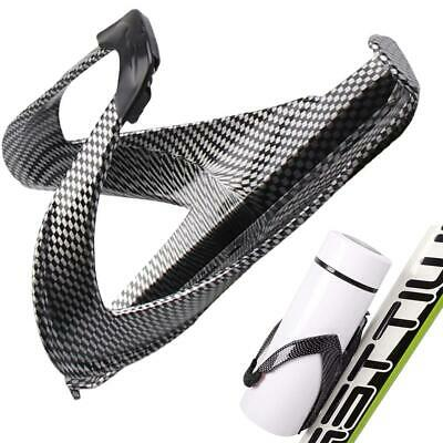 Carbon Fiber Road Bicycle Bike Cycling Water Bottle Drinks Holder Rack Cage TE • 4.55£