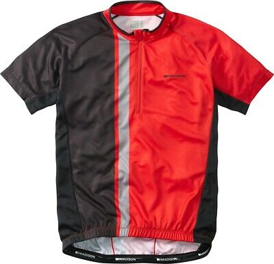 Madison Tour Short Sleeve Mens Cycling Jersey - Red • 17.99£