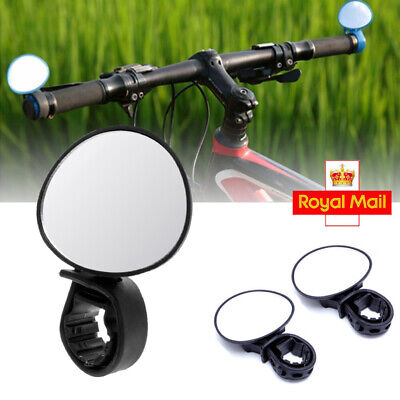 Universal Bicycle Bike Rear View Mirror Adjustable Flexible Safety Durable Black • 3.99£