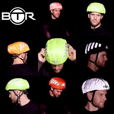 BTR Waterproof High Visibility Reflective Cycling Bicycle Bike Helmet Cover Pack • 12.99£