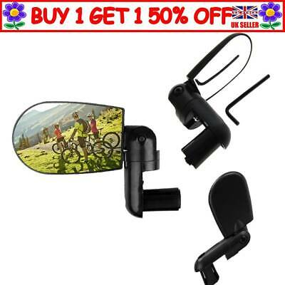 Bicycle Handlebar End Rearview Mirror Rotating MTB Cycling Safety Black A4 UK • 4.68£