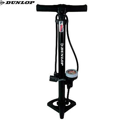 Dunlop Floor Bike Pump With Pressure Gauge Standpump Manometer 11Bar Black Air • 21.99£