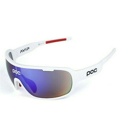 POC Cycling Goggle Polarized Sunglasses Bicycle Sports Glasses 5 Pcs Lens UV400 • 13.99£