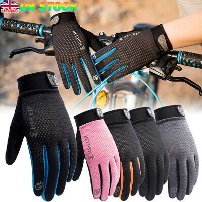 Anti-slip Cycling Gloves Touch Screen Full Finger MTB Bike Bicycle Cycle Mitts • 6.29£