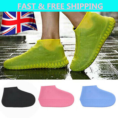 Recyclable Silicone Overshoes Rain Waterproof Shoe Covers Boot Cover Protector • 3.10£
