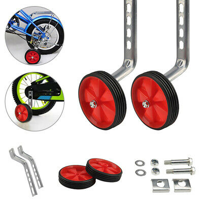 Kids Bicycle Training Wheels Bike Cycle Stabilisers Safety 12-20  Universal Red • 9.88£