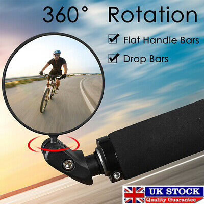 Road MTB Mountain Bike Rearview Mirror Bicycle Handlebar Convex Rear View Mirror • 6.89£
