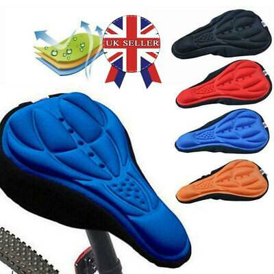 3D Silicone Gel Bike Bicycle Cycling Saddle Seat Cover Comfort Soft Cushion Pad • 2.99£