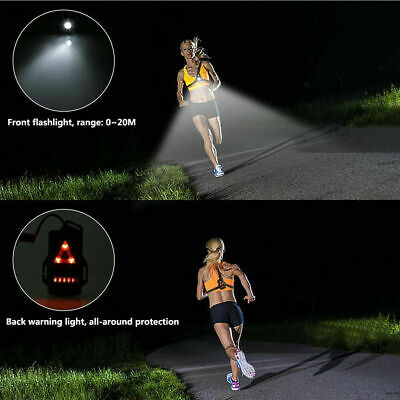 USB LED Running Chest Lamps Safety Warning Lights Night Torch Waterproof Q • 7.68£