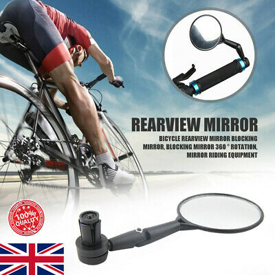 1pc Bile Bicycle Handlebar End Mirrors 360 Rotatable Bike Side Rearview Mirror • 4.29£