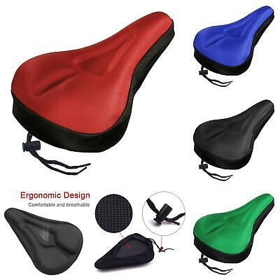 MTB Bike Bicycle Silicone 3D Gel Saddle Seat Cover Pad Padded Soft Cushion UK  • 6.88£