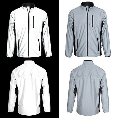 BTR Be Totally Reflective Silver High Vis Cycling & Running Jacket Men And Women • 28.99£