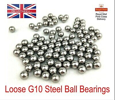 Ball Bearings 1/4  7/32  3/16  5/32  Loose Bike Hubs Cones Machinery G10 • 9.80£