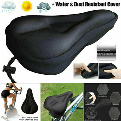 Mountain Bike Comfort Gel Pad Comfy Cushion Saddle Seat Cover For Exercise New • 5.29£