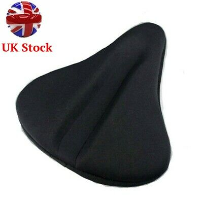 UK Exercise Bike Seat Gel Cushion Cover For Large Wide Bicycle Saddle /Pad Bike • 11.99£