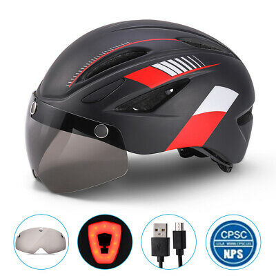 Bicycle Helmets For Men And Women Riding Equipment Suits Magnetic Goggles Helmet • 19.69£