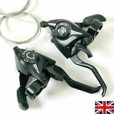 Shimano ST-EF51 GEAR Shifter/Brake Lever 3 X 7,8,21,24 Speed Set Black Lever NEW • 13.99£