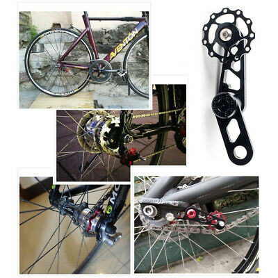 Bike Chain Tensioner Aluminium Alloy Single Speed Folding Cycling Replacement • 10.99£