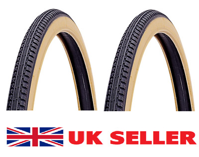 27 X 1 1/4  Bike Package 2 X Amber Wall Tyres   • 19.99£