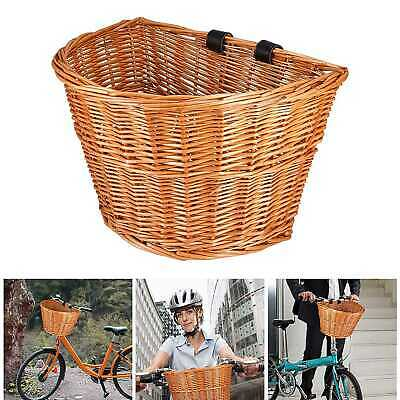 Large Vintage Lady Hand Woven Rectangle Front Wicker Bike Basket Bicycle/Cycle • 14.38£