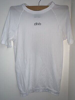 DHB Short Sleeve Seamless Base Layer Small White Hardly Used Excellent Condition • 14.99£