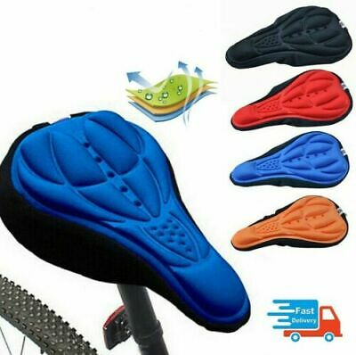 Saddle Cover Sports Comfortable Silicone Gel Cushion Bike Seat Pad Cycling • 2.75£