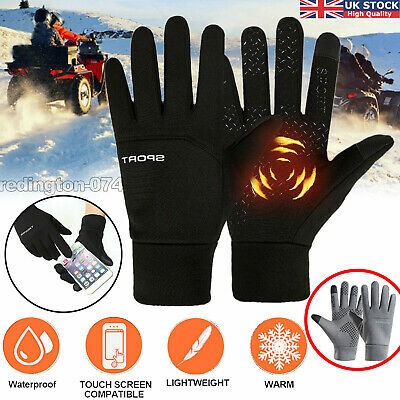 Liner Thermal Gloves Cycling Hand Warm Phone Touch Waterproof Winter Sports 2021 • 5.99£