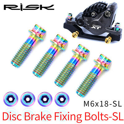 Alloy Bicycle Disc Brake Clamp Fixing Bolts Hollow MTB Bike Screws M6x18mm • 14.49£