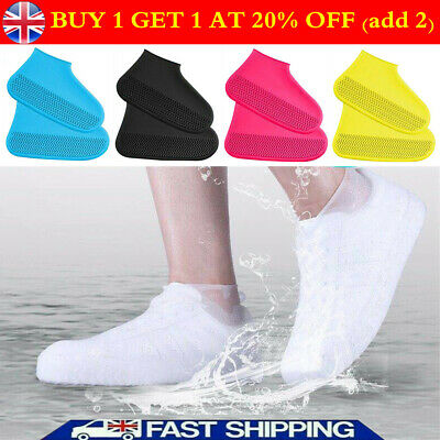 Silicone Overshoes Rain Waterproof Covers Shoe Recyclable Protector Cover Boot ! • 5.49£