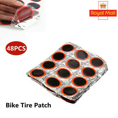 48X Glueless Self-Adhesive MTB Bike Bicycle Tire Tube Puncture Repair Patch Tool • 3.14£