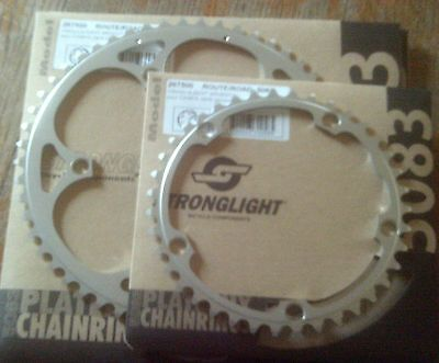NEW STRONGLIGHT  135BCD CHAINRINGS, 39-53t, CAMPAGNOLO FIT • 20£