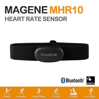 Magene MHR10 Dual Mode ANT+ & Bluetooth 4.0 Heart Rate Sensor With Chest Strap • 24.14£