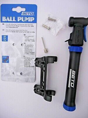 Beto Mini Cycling Ball Pump Bike Bicycle 2 Shot Presta Schrader Football NEW • 8.99£