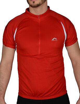 More Mile Summer Mens Cycling Jersey Half Zip Short Sleeve Bike Cycle Ride Top • 7.99£