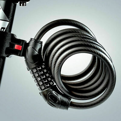 5 Resettable Digit Combination Bike Lock Bicycle Spiral Steel Cable Lock 1.2Mt  • 7.99£