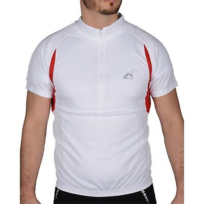 More Mile Mens Cycle Jersey Short Sleeve Half Zip Breathable Summer Cycling Top • 7.99£
