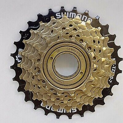 SHIMANO 7 Speed Screw On FREEWHEEL 14-28 Teeth Gears Cog Bike Bicycle Cycle • 19.99£