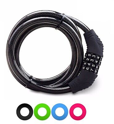 Combination Number Bike Lock Strong Heavy Duty Cycle Security Bicycle Lock Steel • 3.99£