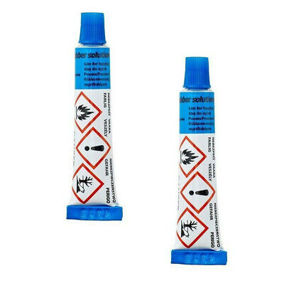 2  X 15g BICYCLE BIKE PUNCTURE REPAIR KIT GLUE INNER TUBE RUBBER SOLUTION TUBES • 3.95£
