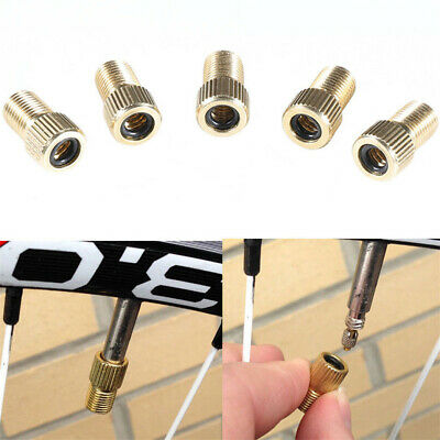 5 Piece Brass Presta Valve Schrader Adaptor Bicycle Mountain Bike Tire Tube Pump • 2.98£