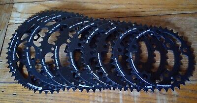 NEW STRONGLIGHT COMPACT BLACK  110BCD CHAINRINGS, 34-52t • 25£